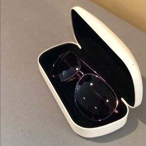 Calvin Klein glass with purple and pink.